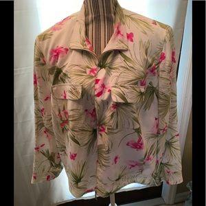 Evan Picone Floral Lined Jacket